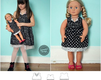 Verona Dress Dolly and Me Pattern Bundle