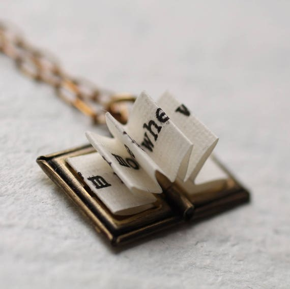 Book Locket Necklace