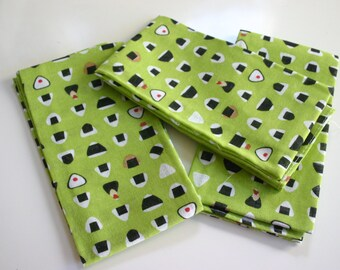 Sushi san Napkin - Japanese print  Fabric piece (1 piece = 87 x 36 cm approx)