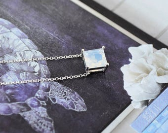 Queen of the Gems Pale Violet Opal Necklace- Pale pendant, Mother's Day, anniversary, push present, gift idea, graduation, prom, basket gift