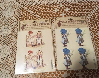 Vintage 1970's Holly Hobbie Decals - American Greetings