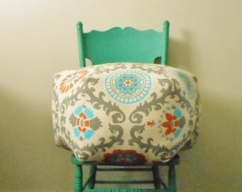 boho pouf - suzani ottoman - floor pillow - foot stool - floor cushion - bohemian Decor - furniture