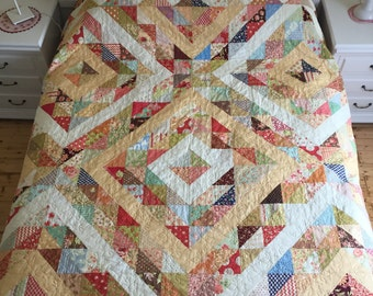 ON SALE:  FigTree Diamonds - large quilt in Fig Tree & Company fabrics