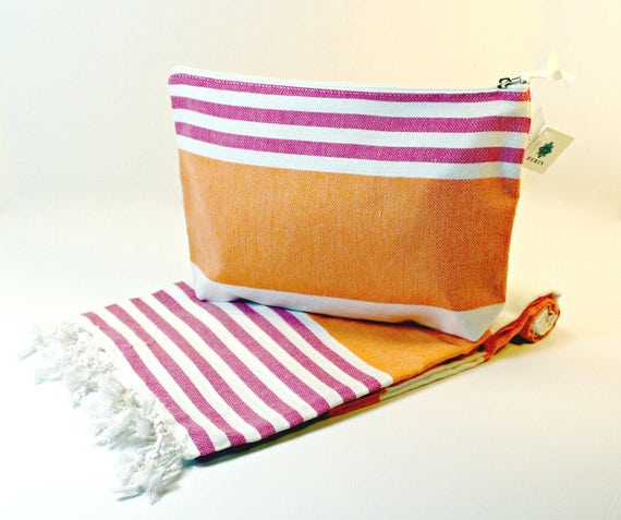 Turkish Beach Towel and Wet Bag Set