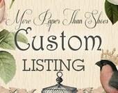 Custom Order for Kelsey