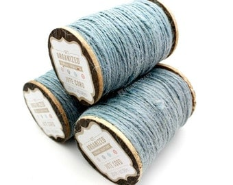 Light Blue Jute Twine, 200ft, Blue Craft Cord