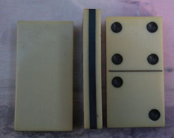 3 Dominos from the 1930s made of Celluloid