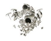 10mm Stainless Steel Earring Tray Settings, Earring Backs INCLUDED
