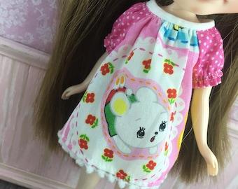 Blythe Smock Dress - Kawaii Bear