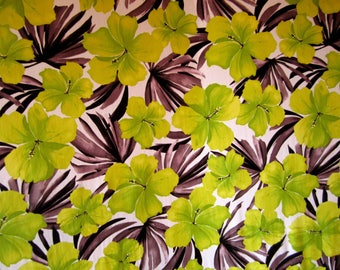 Lycra Fabric Hawaiian Hibiscus Floral Print Lycra Swimwear Fabric Crafts Sewing