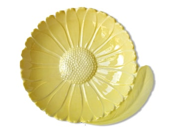 Carlton Ware Daisy Butter Dish. Very Rare All Yellow Australian Design. 1930s Home
