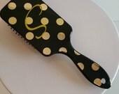 Personalized Hair Brush, Monogrammed Hair Brush, Personalized Brush, Custom Brush, Paddle Brush, Monogrammed Paddle Brush, GOLD STRIPE