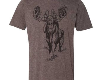 Moose Beer TShirt, Craft Beer Tshirt, Maine Shirt, Spirit Animal Moose TShirt, Beer Geek, Homebrewer, Beer Festival Shirt, Moose Shirt