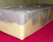 Lilacs with Lavender Whole 3.5 Pounds Milk Soap Loaf - Cold Process Soap with Argan Oil and Shea Butter