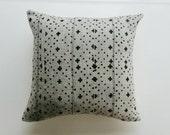 Grey and Black Mudcloth Pillow Cover - Gray Bohemian Tribal Throw Pillow - Boho Pillows