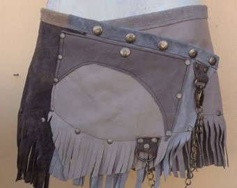 """20%OFF bohemian tribal gypsy fringed leather belt..28"""" to 37"""" waist or hips.."""