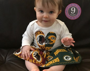 Girl  NFL House divided skirt outfit with your two teams Baby and Toddler sizes available