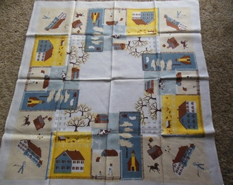Cute Childs Tablecloth, Farm Scenery Tablecloth