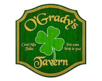 """personalized Irish Tavern sign, bar decor man cave,tavern sign, beer, Irish 20"""" X 20"""""""
