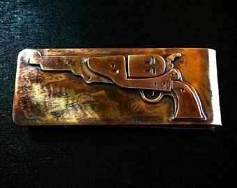 Colt dragoon revolver money clip