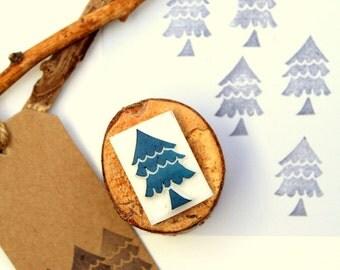 Carved stamp Christmas Tree handmade
