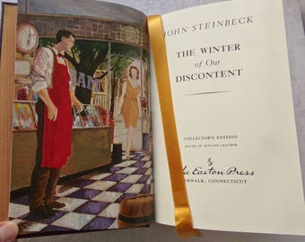 Vintage Book John Steinbeck The Winter of Our Discontent Steinbeck's Last Novel Shakespeare Title Vintage 1980