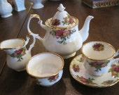 Royal Albert ' Old Country Rose' Tea Set.... Minature
