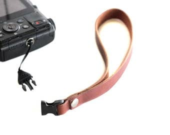 Leather Camera Strap,Pocket Camera Hand Strap,Leather Strap,Camera Accessories, Digital Camera Accessories,Buckle Release,Photographer Gift