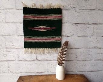 Green Chimayo Textiles - Vintage Wall Hanging