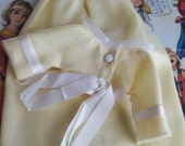 Vintage Pedigree Sindy Yellow Evening Gown and jacket for Tammy, Barbie, Blythe & friends, madmen, mod, kitsch