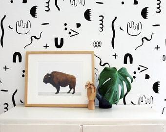 brush strokes wall stencils