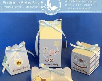 40% off Printable Baby Boy Shower Party favors gift box ////// 002