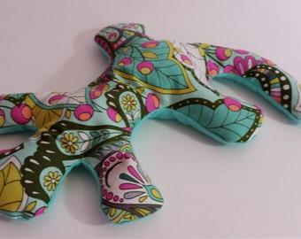 Pain Reliever Hot/ Cold Herbal Therapy Lizard with Peacock Print