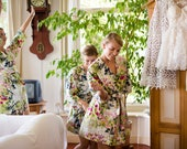 Bridesmaid Robes. Kimono. Bridal Robe. Bridesmaids Robes. Kimono Robe. Spring is Here. Bridesmaid's Gift. Wedding Lingerie. Wedding Robe.