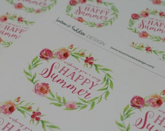 DIY, Happy Summer end of the year gift tag