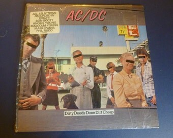 AC/DC Dirty Deeds Done Dirt Cheap Vinyl Record SD 16033 1976