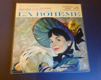 Puccini La Boheme  Vinyl Record LP LM-6042 Red Seal 2 Record Set /Booklet RCA Victor 1956 Rare
