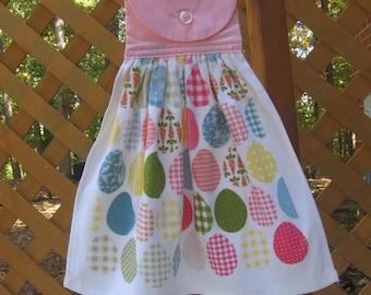 Easter Egg Kitchen Towel, Easter Hanging Tea Towel, Dish Towel, Oven Towel, Easter Holiday Towel, Egg Towel, Easter Decor  SnowNoseCrafts
