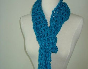 Light Blue Handmade Crochet Scarf