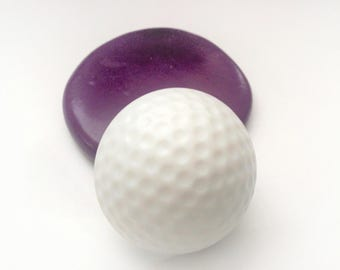 Large golf ball mold- flexible silicone push mold Fondant / cake decoration /craft/ dessert