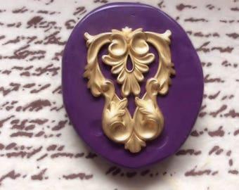 Art Nouveau Leaf silicone rubber mold