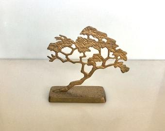 Vintage Brass BONZAI Tree