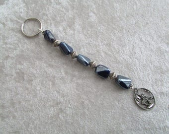 Beaded End of Trail Key Ring