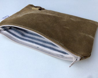 TAB - reconstructed vintage duffle bag small pouch