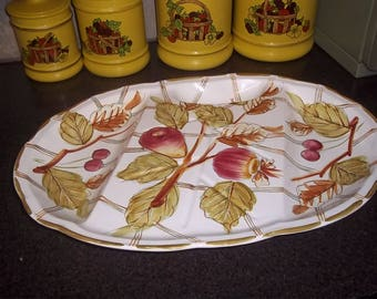Vintage Royal Sealy from Japan Turkey Extra Large Platter in GREAT Condition!  Apple Design -