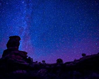 NIGHT SKY Over CANYONLANDS - Photographic Print, Wall Art, Celestial Art, Nature Art