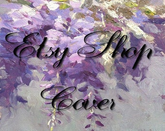 Premade Etsy Banner, Avatar, Business Card, Etsy Shop Package, Spring Design,