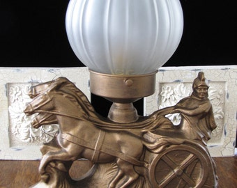 Vintage Art Deco Gladiator Lamp FREE SHIPPING to the USA