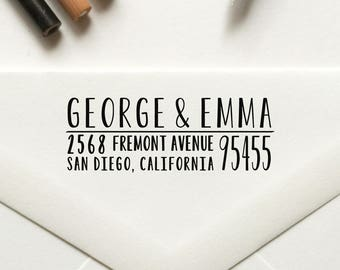 Stamp, Return Address Stamp, Custom Stamp, Personalized Stamp, Self Inking Stamp, Rubber Stamp, Save the Date Stamp - No. 33