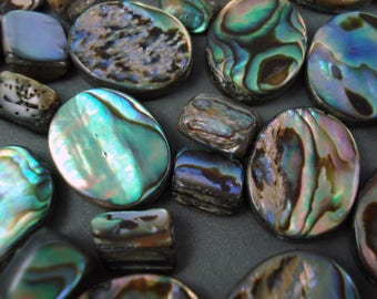 Destash Abalone Mixed Size Beads